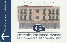GREECE - Capsis Bristol, Hotel Keycard, Sample - Hotel Keycards