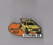 Pin's Rallye Raid - Citroen ZX (zamac) Longueur: 4,2 Cm - Automobile - F1