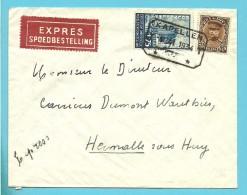 341+389 Op Brief Per EXPRES Met Telegraafstempel KAPELLEN - 1931-1934 Kepi