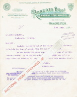 MANCHESTER 1928 - ROBERTS BROS - Machine Tool Makers - Royaume-Uni