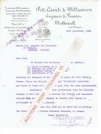 MOTHERWELLE 1923 - POTT, CASSELS & WILLIAMSON - Engineers & Founders : Sugar Machinery, Iron & Brass, Castin - Royaume-Uni