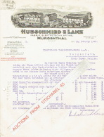 Lettre Illustrée 1935 MURGENTHAL - HUBSCHMIED & LANZ - Fabrik Elektrotechn. Artikel - Suisse