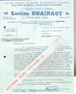 """ORCHIES 1952 - Lucien DHAINAUT - Culture De Graines De Betteraves Sucrières - Concessionnaire Des Graines """"BUSZCZYNSKI"""" - France"""