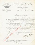 PERWEZ - JODOIGNE 1908 - L'UNION AGRICOLE DE JODOIGNE SUCCURSALE DE PERWEZ - Fabrique D'engrais Chimiques... - Belgium