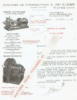 WAVRE 1934 - Ateliers De CONSTRUCTION C. DE RAEDT - Pompes Centrifuges, Ventilateurs - Belgique