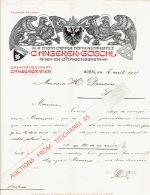 Brief 1911 - WIEN - C. ANGERER & GÖSCHL - Photochemigraphen - Hofkunstanstalt - Autriche