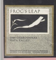 O) 1988 UNITED STATES - NAPA VALLEY, FROG, LABEL XF - Unclassified