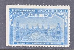 VIGNETTE   PARIS EXPO 1900   PLAZA    * - 1900 – Pariis (France)