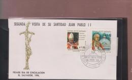 RO)1996 EL SALVADOR, POPE JOHN PAUL II - VISIT, METROPOLITAN CATHEDRAL, ARCHITECTURE, FDC - El Salvador