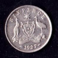 Australia 1927 Sixpence F - Moneda Pre-decimale (1910-1965)