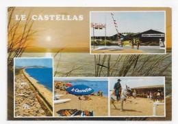 CAMPING LE CASTELLAS - N° 6 - MULTIVUES - CPSM GF VOYAGEE - Sete (Cette)