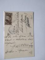 1933 USO Singolo Centesimi 30 X Anniv.Marcia Su Roma Su Cartolina Timbro Arrivo - Storia Postale