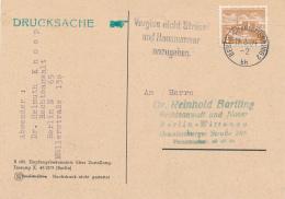 BERLIN-CHARLOTTENBURG - 1954 , Vergiss Nicht Strasse Und Hausnummer Anzugeben. - Lettres & Documents