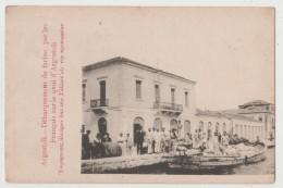 CPA ARGOSTOLI Débarquement De Farine Par Les Français Sur Le Quai D' Argostoli - Grèce