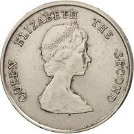 Etats Des Caraibes Orientales, Elizabeth II, 25 Cents, 1989, TTB+, KM:14 - Caraïbes Orientales (Etats Des)