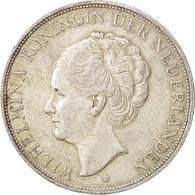Pays-Bas, Wilhelmina I, 2-1/2 Gulden, 1929, TTB, Argent, KM:165 - [ 8] Monnaies D'or Et D'argent