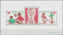 """GABUN Block 34(666-8) """"Fußballweltmeisterschaft Argentinien 1978"""" MNH / ** / Postfrisch - Gabun (1960-...)"""