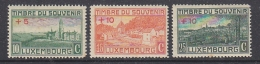 Luxemburg 1921 Errchting Eines Kriegerdenkmals 3v * Mh (=mint, Hinged)  (some Brown Spots On Gum) (29875) - Ongebruikt