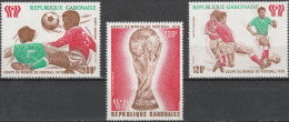 """GABUN 666-8 """"Fußballweltmeisterschaft Argentinien 1978"""" MNH / ** / Postfrisch - Gabun (1960-...)"""