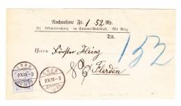 Schweiz Wertziffer 2.10.1886 Chur 12Rp WZ Auf NN Streifband Nach Flerden - Lettres & Documents