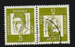 Deutschland 1961 Michel K2 K 2 Gestempelt, 5+5 Pfg. Kehrdruck Aus MHB 7  347y / 347 Y, Albertus Magnus, Y&T 220 - Zusammendrucke