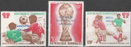 """GABUN 670-2 """"Fußballweltmeisterschaft Argentinien 1978 Ergebnisse"""" MNH / ** / Postfrisch - Gabun (1960-...)"""