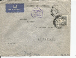 "TEL AVIV 1939   BY AIR MAIL    "" PALESTINE PASSED BY CENSOR "" - Palestine"