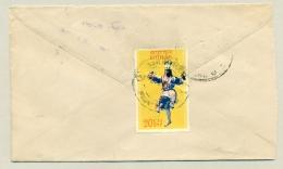 Bhutan - 20Ch Danser Stamp On Commercial Inland Cover - Bhutan