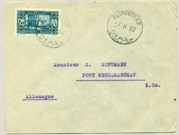 Libanon - 1932 - 7,50Pia On Commercial Cover From Beyrouth To Grossharthau / Germany - Libanon
