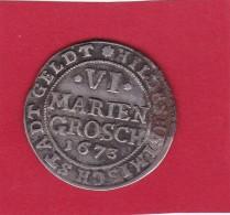 Allemagne - Hildesheim 6 Marien Groschen - 1673 - Argent - TB - Other