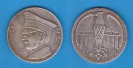 """DEUTSCHLAND / GERMANY / ALEMANIA 5 REICHSMARK 1.935 Medalla """"ADOLF HITLER"""" DL-11.746 - [ 4] 1933-1945: Derde Rijk"""