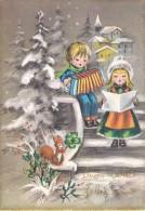 FESTE AUGURI - Buon Natale E Felice Anno - Merry Christmas - Joyeux Noël - Bambini Che Suonano E Cantano - 1973 - Natale