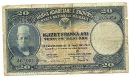 Albania - 5 Franka Ari 1926, - Banconote