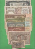 Moneta Di Guerra 8 Banconote War Currency  Russia Croazia Yugoslavia - Banconote