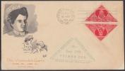1959-FDC-21  CUBA. FDC. 1959. ENFERMERA. NURSE. MEDICINA. MEDICINE. CACHET VENECIA. SEMIPOSTAL. PAREJA IMPERFORADA. - FDC