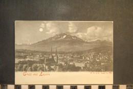 CP, Suisse, Gruss Aus LUZERN N°209 Edition FV In L  Dos Simple Precurseur - Suisse