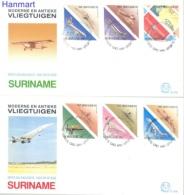 Surinam 1987 Mi 1223-1234 FDC- Military Planes - U.P.U.