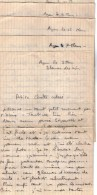 VP4568 - 5 Lettres Du Soldat HUILLIER à AGEN Quartier Toussaint Au Bataillon Des Transmissions - Récit - Lettres D´Amour - Manuscripts
