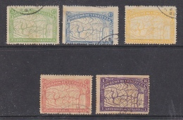 Venezuela 1896 De Miranda 5v Used (some Brown Spots On Teeths, 1 Value Thin) We Offer As They Are (29887) - Venezuela