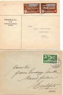 1942 E 19..  Due Corrispondenze Dalla Svizzera 12 - Storia Postale