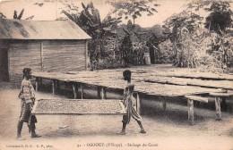 ¤¤  -   32  -  OGOOUE  ( N'KOGO )  -  Séchage Du Cacao   -  ¤¤ - Gabon
