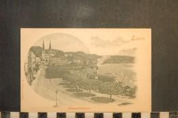 CP, Suisse, LUZERN Schweizerhofquai      Edition Fr Voege   Dos Simple Precurseur - Suisse