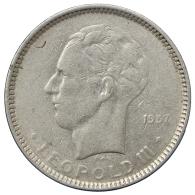 BELGIO/BELGIUM 5 FRANCS 1937 LEOPOLD III° #2346 - 1934-1945: Leopold III