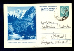 Illustrated Stationery - Image Bistrica (Kamiske Alpe) / Stationery Circulated, 2 Scans - 1931-1941 Regno Di Jugoslavia