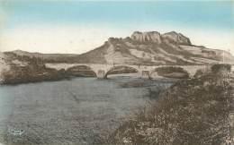 """CPA FRANCE 83 """" Roquebrune Sur Argens, Le Rocher Et Le Pont Sur L'Argens"""" - Roquebrune-sur-Argens"""