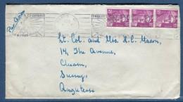 France- Enveloppe De Paris Pour La GB En 1953 Aff. Gandon   Voir 2 Scans   Réf. 927 - Marcophilie (Lettres)