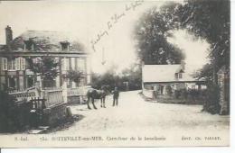752 - SOTTEVILLE-SUR-MER - CARREFOUR DE LA BOUCHERIE   ( Animées  ) - France