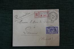 Enveloppe Timbrée Recommandée Adressée Au Maire De LAURENS ( 34) - MERSON. - Lettres & Documents