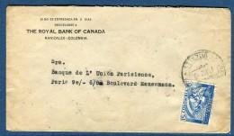 Colombie, Enveloppe De Manizales Pour Paris En 193....  Voir 2 Scans   Réf. 945 - Colombia