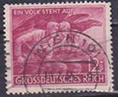 """Deutsches Reich MiNr. 908 Gest. Wien Parteimiliz """"Ser Volkssturm"""" -Ein Volk Steht Auf- - Germania"""